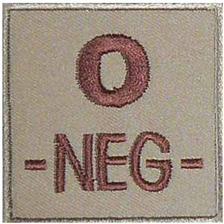Toe 2 Toe Insigne de Groupe sanguin O