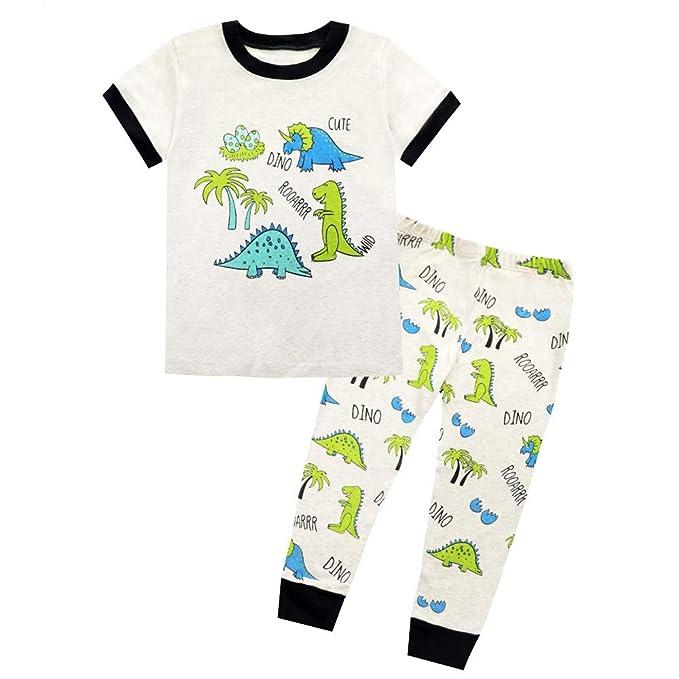 prezzo più basso c0e99 1a250 Winzero - Pigiama da Bambino con Dinosauro in Cotone ...