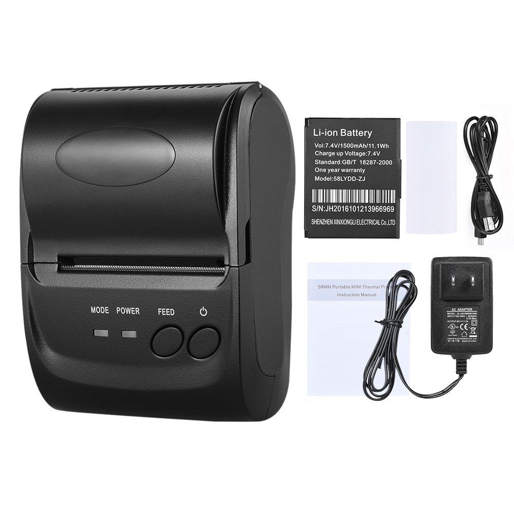 Amazon.com: KKmoon pos-5802dd Mini Bluetooth portátil USB ...