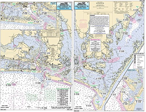 Morehead City to Cape Lookout, NC - Laminated Nautical Navigation & Fishing Chart by Captain Segull's Nautical Sportfishing Charts | Chart # MCL338
