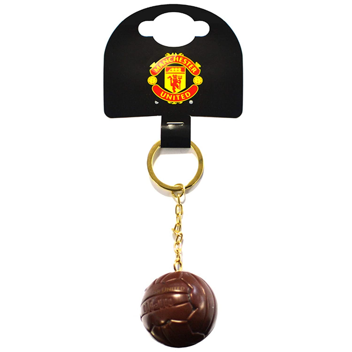 Manchester United FC Official Vintage Ball Keyring (One Size) (Brown) UTSG15742_1