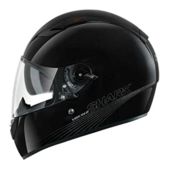 SHARK - Casco moto VISION-R BLANK - Tamaño: L - Color: Negro