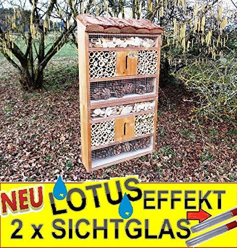 Insektenhotel Groß - BTV Insektenhaus Teak Look
