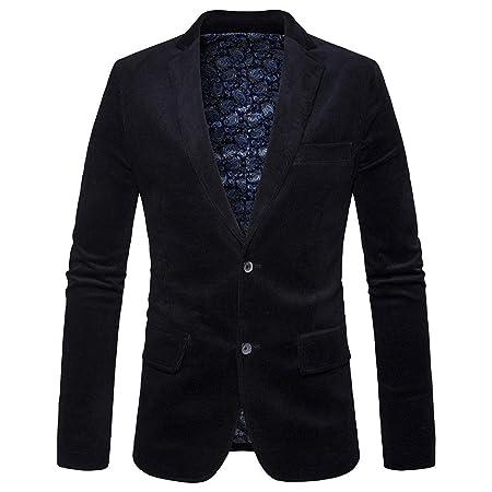 Chaqueta de traje de pana para hombre, otoño, invierno, club ...