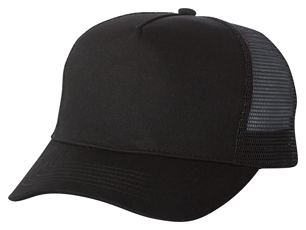 16e19c307e Amazon.com: Mega Cap 6886 - Five Panel PET Mesh Back Trucker Black: Clothing
