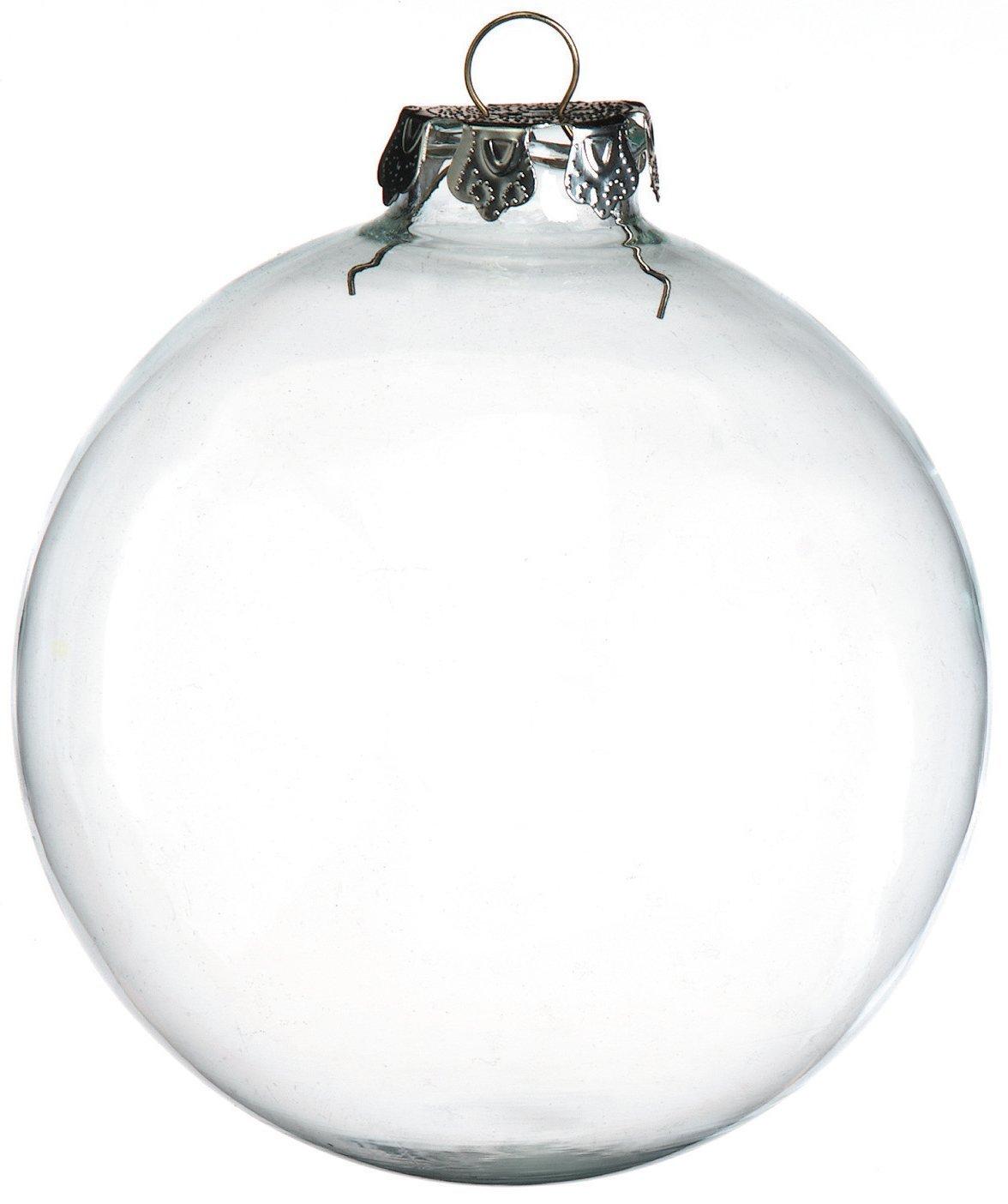Amazoncom Darice 2Piece Glass Balls 100mm Clear Home  Kitchen