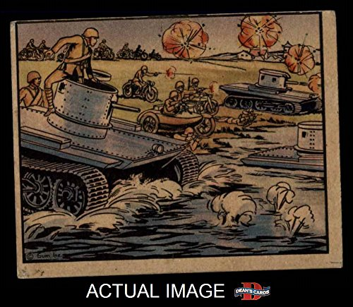 1938 Gum Inc. Horrors of War # 132 Chinese Motorized Unit with Amphibious Tanks (Card) Dean's Cards 3 - VG 2044720 (Unit Motorized)
