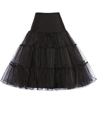 Femme Belle Jupon en Fil Crinoline de Bon Qualité Noir Taille S YF08922-1 - 5320046572ab