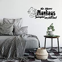 Wall Stickers Art Decor Vinyl Peel and Stick Mural Removable Decals No More Monkeys Jumpin' on the bed for nursery kids room
