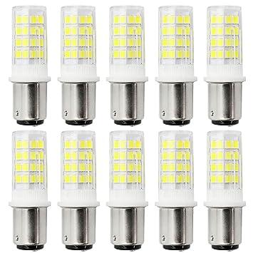 B15D Bombillas LED 5W Bi-Pin Bombilla LED 500 lumen 51 LED 2835 SMD Blanco cálido ...