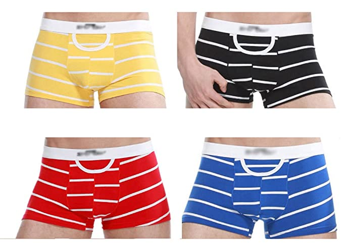 Anguang Hombres y Mujer Ropa interior Unisexo Íntimos Pantalones cortos Boxer Bragas Calzoncillos Bragas 4 Colores
