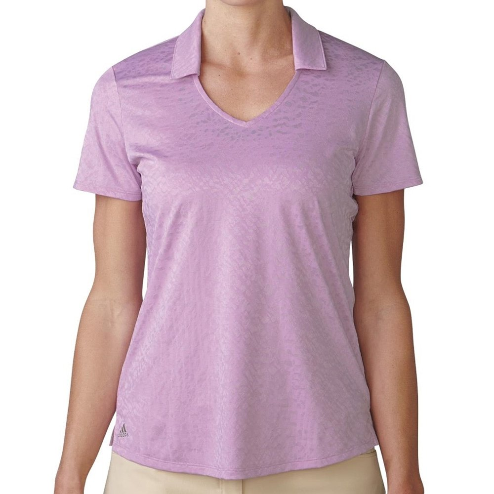 adidas Golf Tour de la Mujer Climacool con Textura Camiseta Polo ...