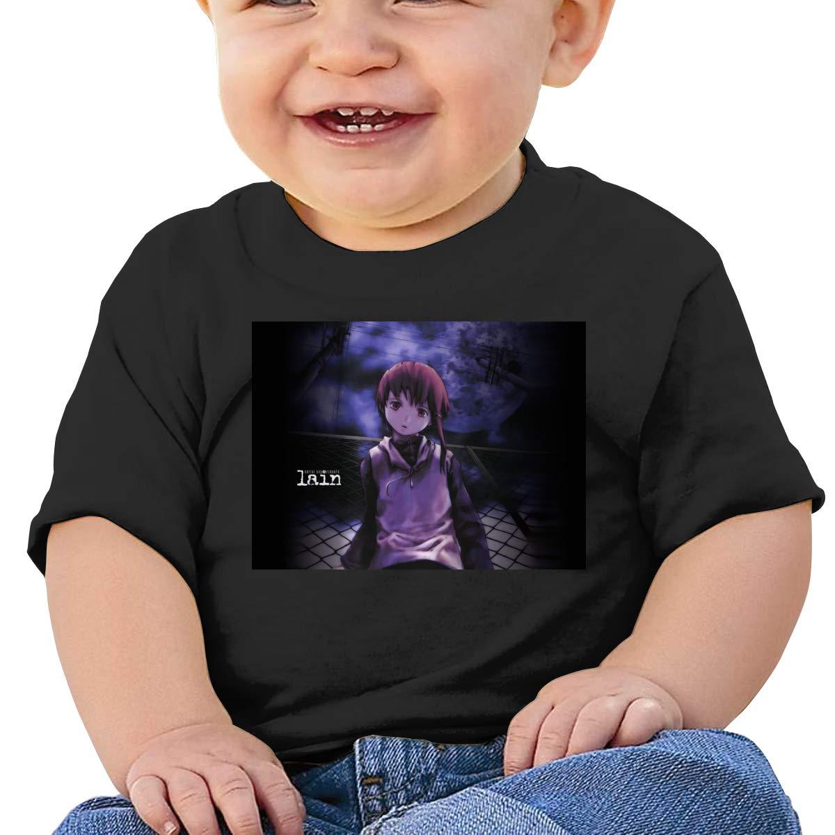 Kangtians Baby Serial Experiments Lain Short Sleeve Shirt Toddler Tee