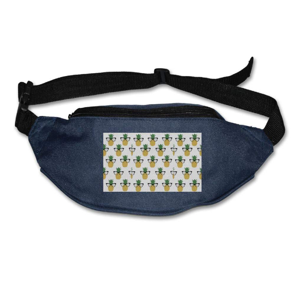 Waist Bag Fanny Pack Sunglasses Pineapple Pouch Running Belt Travel Pocket Outdoor Sports
