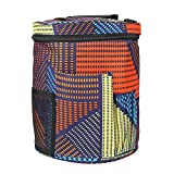 zjchao Knitting Bag for Yarn Storage, Anti-Static Oxford Cloth Portable Knitted Round Storage Yarn Box Pocket for Accessories and Slits on Top to Protect Yarn and Prevent Pestering