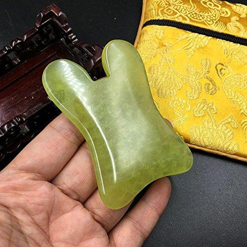 マラソンセッション事前1点1pcFace / Body Massage Natural Jade Gua Sha Board U 形 shape かっさプレート 天然石 翡翠(顔?ボディのリンパマッサージ)
