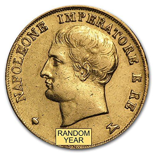 1808 IT -1814 Kingdom of Italy Gold 20 Lire Napoleon I Avg Circ Gold Very Good - Napoleon Gold Coin