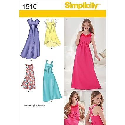 Amazon.com: Simplicity 1510 Girls\' Plus Size Special ...