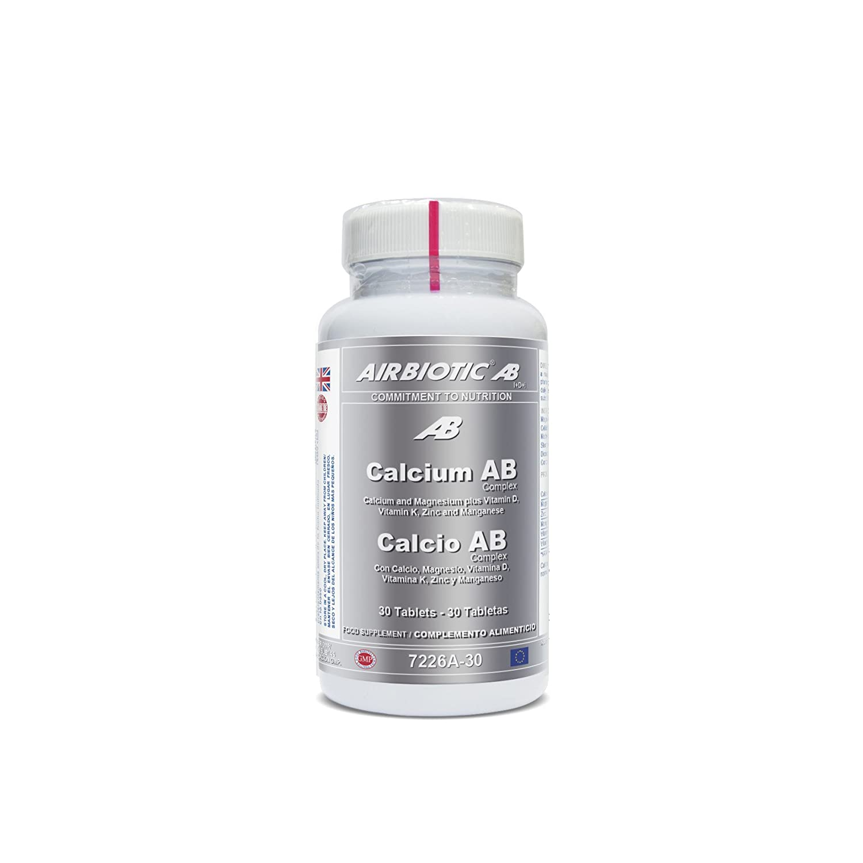 Airbiotic AB, Calcio AB Complex, Minerales Para Huesos y Dientes, Ingredientes Sinérgicos, 30 Tabletas: Amazon.es: Salud y cuidado personal