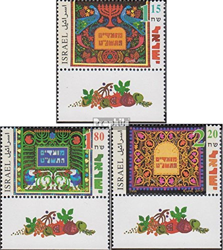 Israel 1487-1489 with Tab (Complete.Issue.) 1998 Jewish Holidays (Stamps for Collectors) -