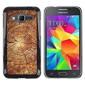 TaiTech / Prima Delgada SLIM Casa Carcasa Funda Case Bandera Cover Armor Shell PC / Aliminium - Bloque de madera del patrón - Samsung Galaxy Core Prime