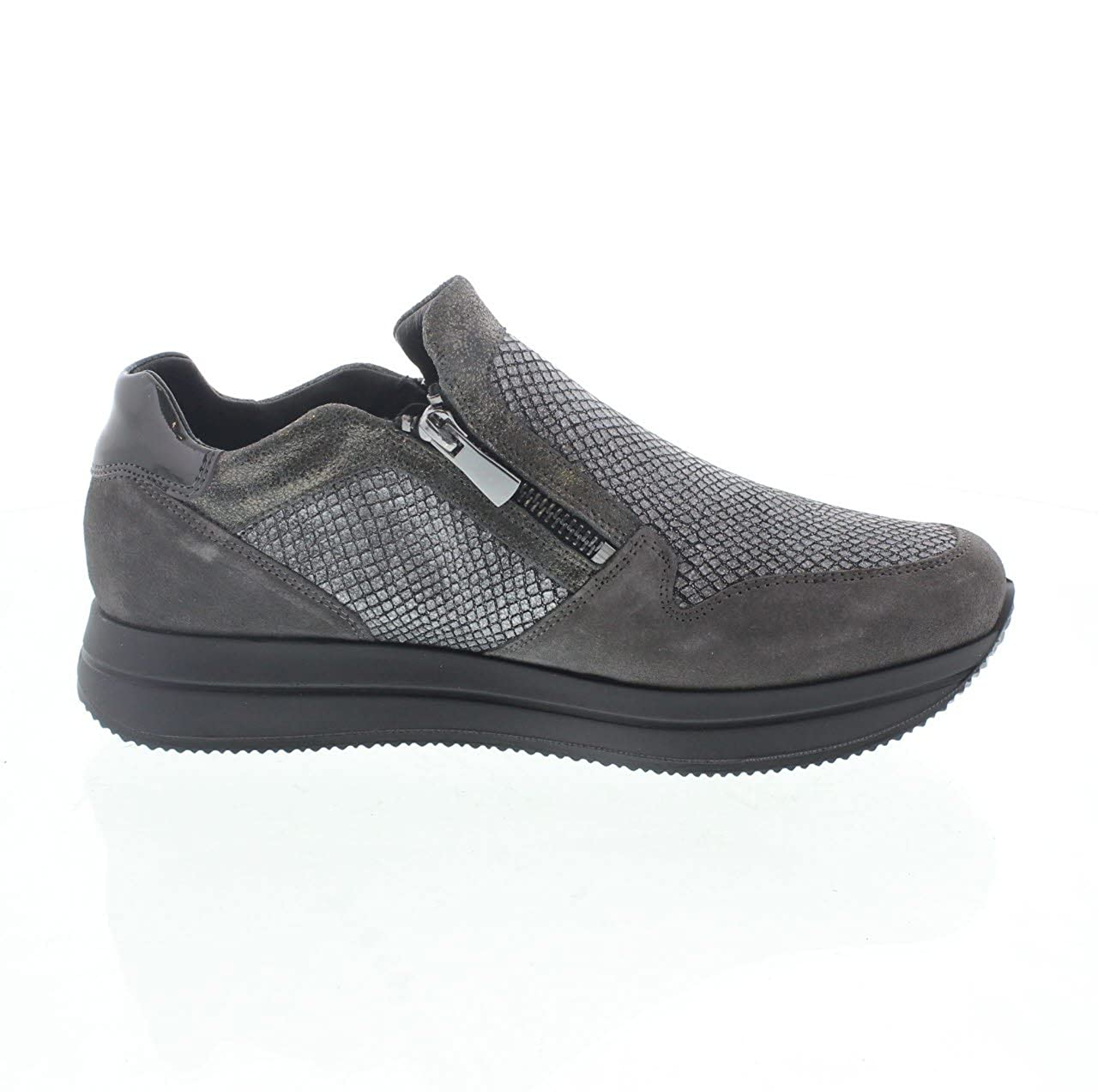 IGI Sportschuhe & CO 67441 schwarz Sportschuhe IGI ohne Schnürsenkel aus Wildleder mit Reißverschluss  Grau 568376