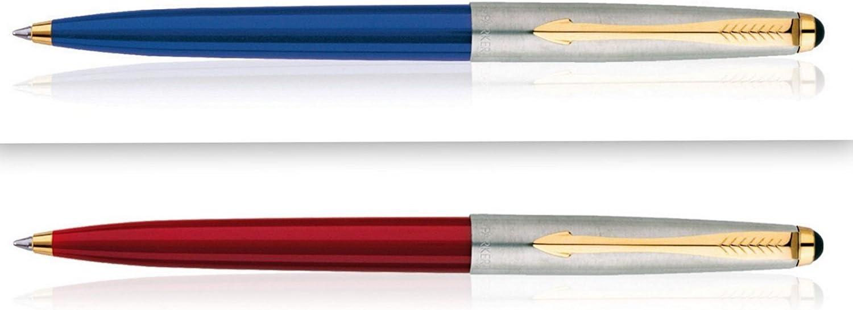 Like Jotter Blue Ink USA Seller New RED Body Parker Galaxy GT Ball Pen