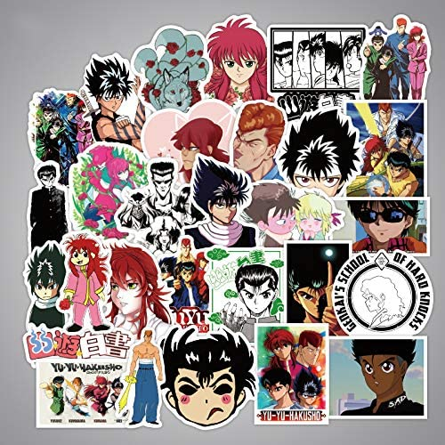 50PCS//SET Anime YuYu Hakusho PVC Stickers for Luggage Laptop DIY Gift