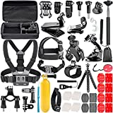 Neewer 58-in-1 Action Camera Accessory Kit for GoPro Hero 6 5 4 3+ 3 2 1 4/5 Session, SJ4000/5000, Xiaomi Yi, Nikon and Sony Sports DV in Swimming Rowing Climbing Bike Riding Camping and More.