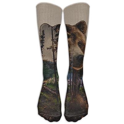 Creativity Bear Unisex Sports Socks Tube Socks Knee High Compression Sports Athletic Socks Tube Stockings Long Socks