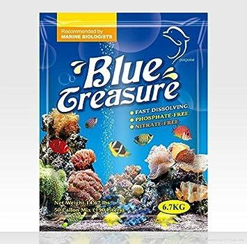 Acuario azul Tesoro lps Ocean Reef Sal de Mar Marino Suave Arrecife de Coral Tanque de peces: Amazon.es: Productos para mascotas