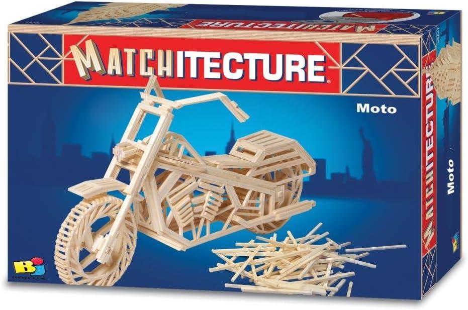 Motorbike Matchstick Model