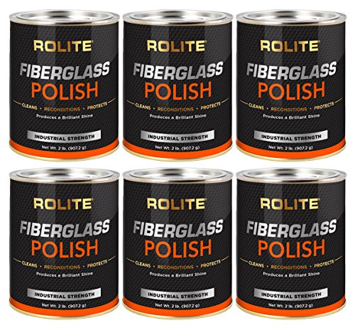 Rolite Fiberglass Polish (2lb) Removing Water Spots, Staining, Oxidation & Hairline Scratches from Boats, Clearcoat, Acrylic and Polycarbonate 6 Pack by Rolite