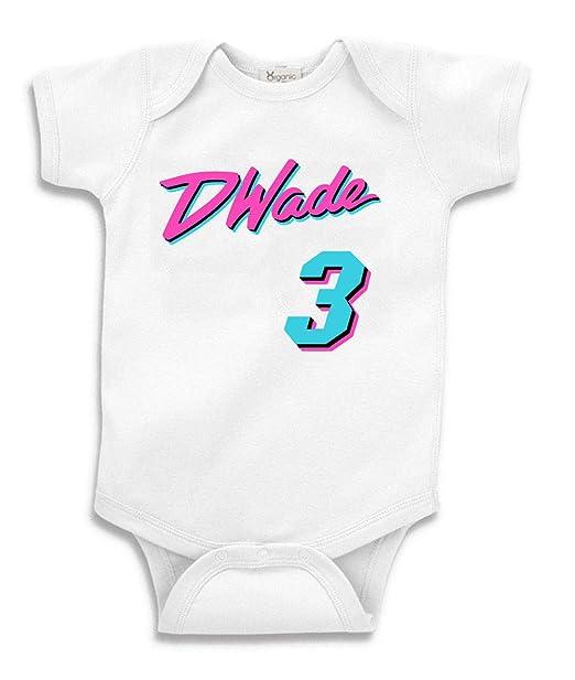 best service ca5c8 10b0e PROSPECT SHIRTS White Miami Wade Miami Vice Baby 1 Piece