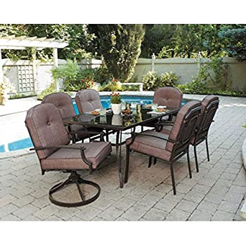 This Item 7 Piece Patio Dining Set, Seats 6. Enjoy The Outdoors With This Patio  Furniture Dining Set. Impress Your Neighbors With The Design Of This Patio  ...