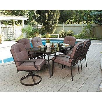 Amazon Com Piece Patio Dining Set Seats Enjoy The Outdoors
