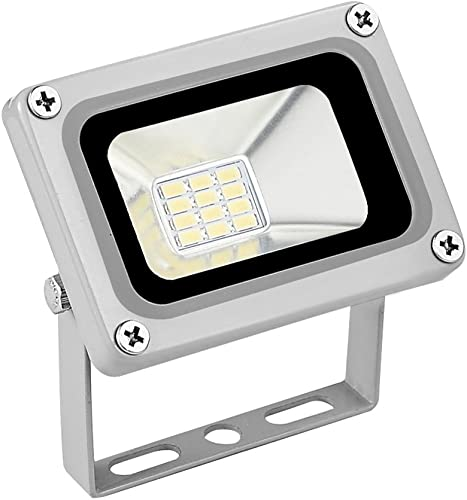LED Flood Light, Tuinverlichting, Outdoor Wall Light, Work Light, 10W 110V IP65 Waterproof 800LM 6000-6500k Cold White with 12pcs LED Bulb for Garage, Garden Decoration Without Plug