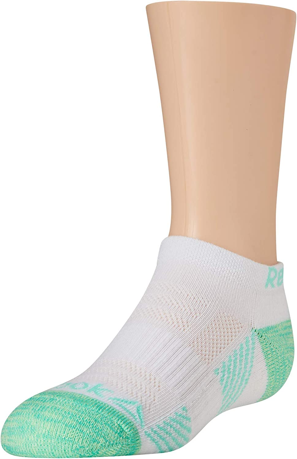 Reebok Girls Cushioned Comfort Athletic Performance No-Show Ankle Low Cut Socks 6 Pack