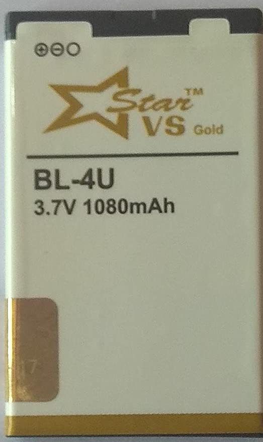 Star VS Gold BL-4U Lithium Ion 1080 mAh 3 7 V: Amazon in