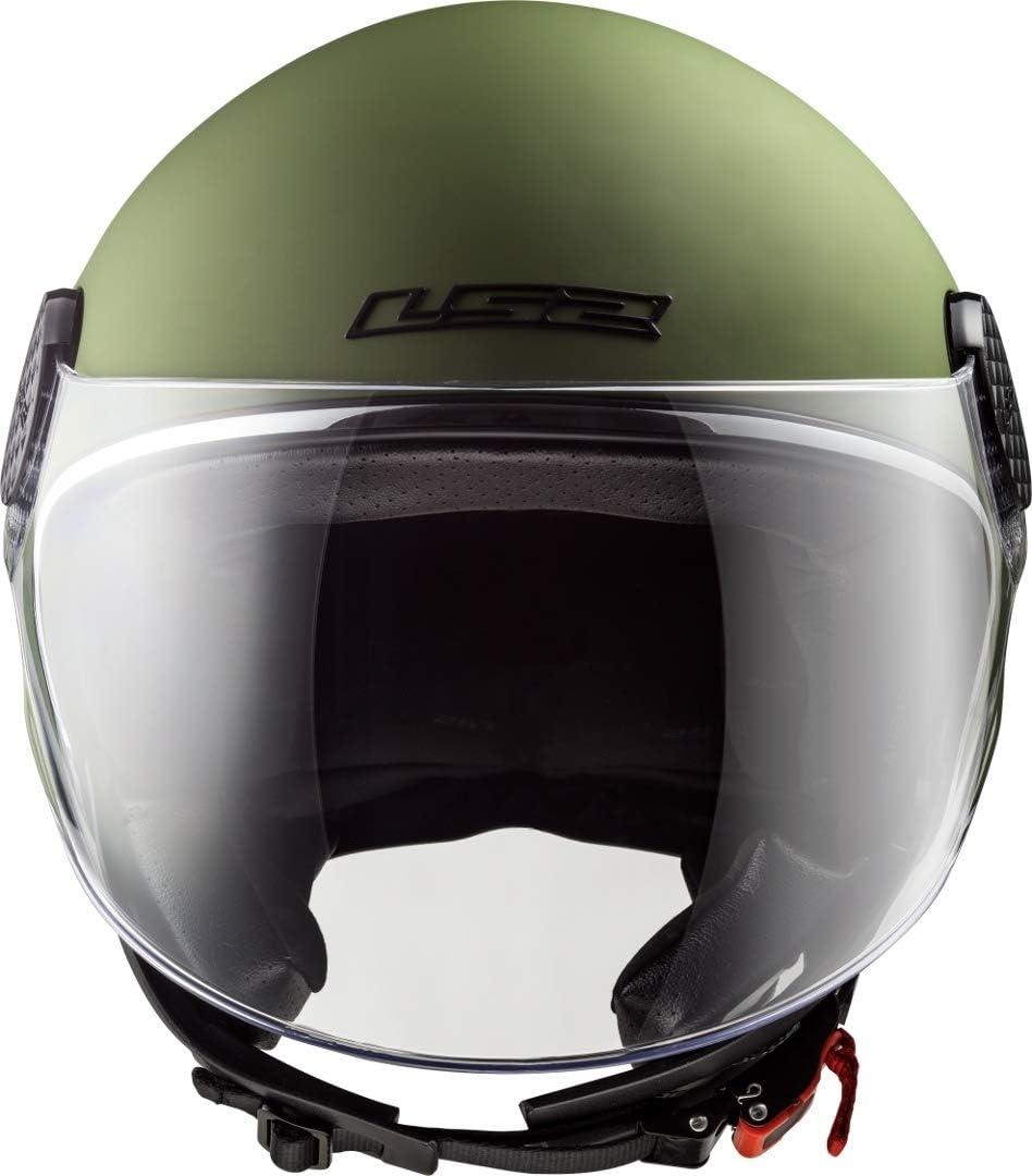 LS2 Casco de moto OF558 SPHERE LUX MATT MILITARY verde M verde