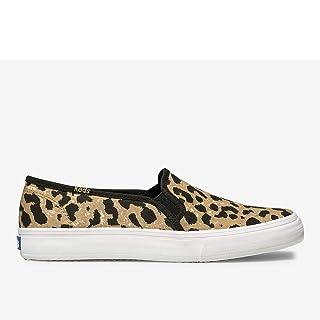 Keds Womens Double Decker Sneaker, Leopard, 7