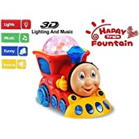 Mqfit Bump and Go Musical Engine Train with 4D Light and Sound for Toy for Kids