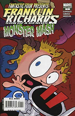 amazon com franklin richards monster mash 1 vf nm marvel comic