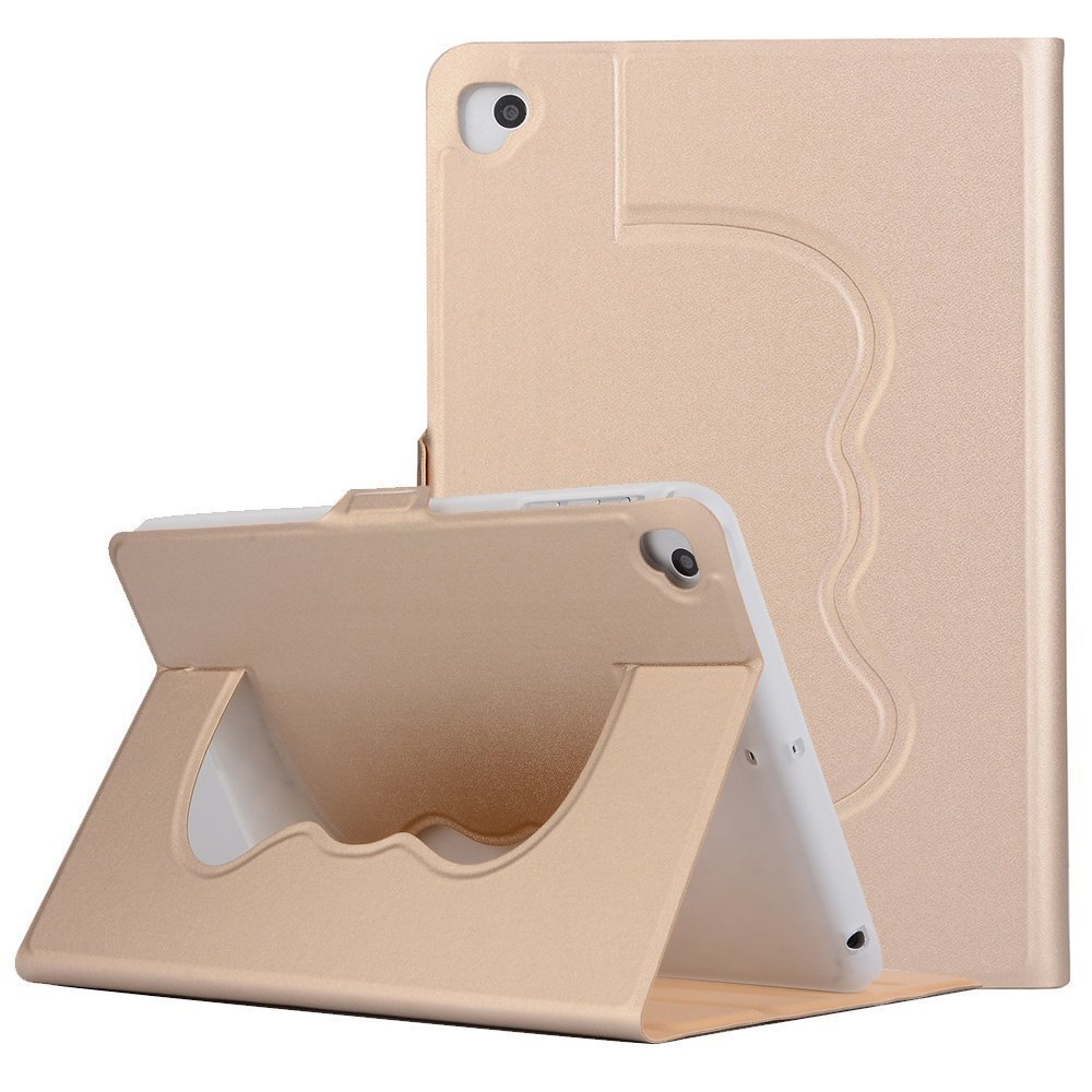 Vacio iPad case cover Premium PU Leather Solid Color Lightweight Slim-Fit Folding Flip Stand Cover Protective Case for iPad Pro 10.5 -Gold
