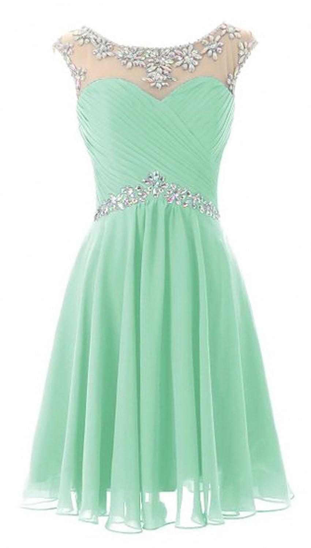 Olidress Women's Short Beading Prom Homecoming Dress