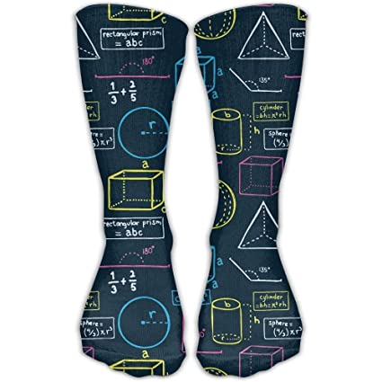 Calcetines Altos Womens Mens Classics Socks Math Equation School Class Athletic Stockings 60CM Long Sock One