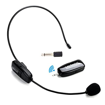 12cb8f082e1 Amazon.com: ZEERKEER 2.4G Wireless Microphone Headset Mic For Voice  Amplifier,Speaker, Karaoke, Computer, Teaching, Meeting,Yoga, Singing:  Musical ...