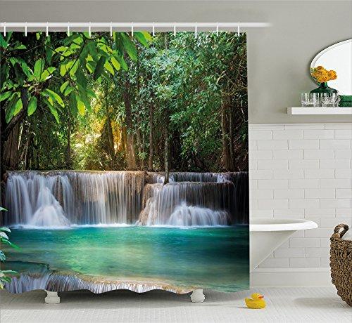 Ambesonne Waterfall Decor Shower Curtain by, Heaven Like Lan