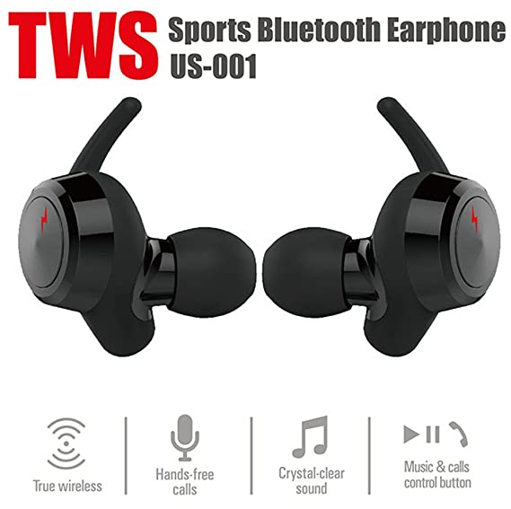 937532d6f7f Wireless Earbuds Bluetooth Headphones Build-in Mic Noise Cancelling Headsets  Dual HD Stereo Earphone Hands