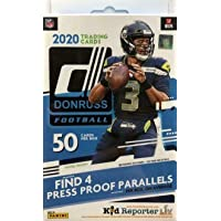 $39 » 2020 Donruss NFL Football Factory Sealed Hanger Box 50 Cards in all (4) PRESS PROOF PARALLLELS…